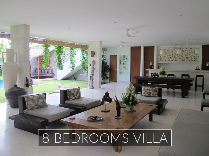 Private villas chocolat bali 2 5 6 8 bedrooms seminyak for 6 bedroom villa bali