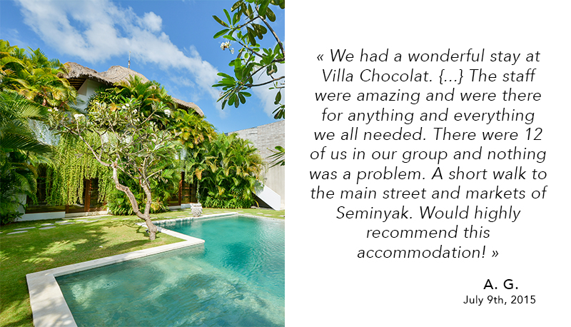 Great review Villas Chocolat Bali